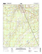Springfield South Georgia Current topographic map, 1:24000 scale, 7.5 X 7.5 Minute, Year 2014 from Georgia Map Store