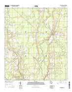Statenville Georgia Current topographic map, 1:24000 scale, 7.5 X 7.5 Minute, Year 2014 from Georgia Map Store