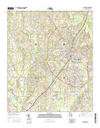 Statesboro Georgia Current topographic map, 1:24000 scale, 7.5 X 7.5 Minute, Year 2014 from Georgia Map Store