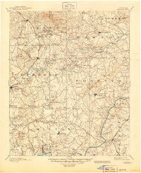 Suwanee Georgia Historical topographic map, 1:125000 scale, 30 X 30 Minute, Year 1894