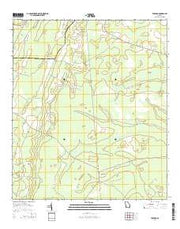 Tarboro Georgia Current topographic map, 1:24000 scale, 7.5 X 7.5 Minute, Year 2014 from Georgia Maps Store