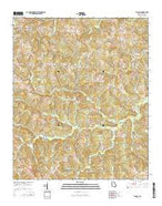 Tignall Georgia Current topographic map, 1:24000 scale, 7.5 X 7.5 Minute, Year 2014 from Georgia Map Store