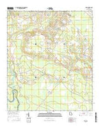 Tison Georgia Current topographic map, 1:24000 scale, 7.5 X 7.5 Minute, Year 2014 from Georgia Map Store