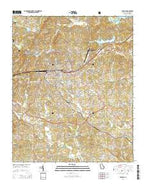 Toccoa Georgia Current topographic map, 1:24000 scale, 7.5 X 7.5 Minute, Year 2014 from Georgia Map Store