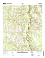 Toledo Georgia Current topographic map, 1:24000 scale, 7.5 X 7.5 Minute, Year 2014 from Georgia Map Store