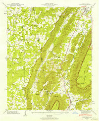 Trenton Georgia Historical topographic map, 1:24000 scale, 7.5 X 7.5 Minute, Year 1946