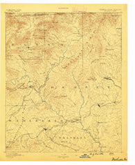Walhalla Georgia Historical topographic map, 1:125000 scale, 30 X 30 Minute, Year 1886