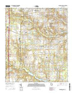Warner Robins SW Georgia Current topographic map, 1:24000 scale, 7.5 X 7.5 Minute, Year 2014 from Georgia Map Store