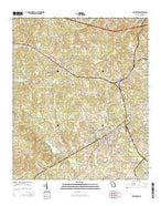 Warrenton Georgia Current topographic map, 1:24000 scale, 7.5 X 7.5 Minute, Year 2014 from Georgia Map Store