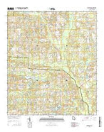 Waterloo Georgia Current topographic map, 1:24000 scale, 7.5 X 7.5 Minute, Year 2014 from Georgia Map Store
