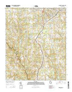 Watkinsville Georgia Current topographic map, 1:24000 scale, 7.5 X 7.5 Minute, Year 2014 from Georgia Map Store