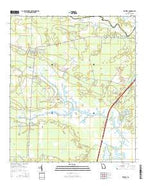 Waverly Georgia Current topographic map, 1:24000 scale, 7.5 X 7.5 Minute, Year 2014 from Georgia Map Store