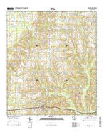 Whigham Georgia Current topographic map, 1:24000 scale, 7.5 X 7.5 Minute, Year 2014 from Georgia Map Store