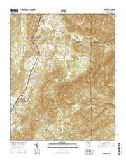 White East Georgia Current topographic map, 1:24000 scale, 7.5 X 7.5 Minute, Year 2014 from Georgia Maps Store