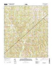 White Plains Georgia Current topographic map, 1:24000 scale, 7.5 X 7.5 Minute, Year 2014 from Georgia Maps Store