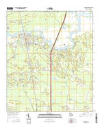 Woodbine Georgia Current topographic map, 1:24000 scale, 7.5 X 7.5 Minute, Year 2014 from Georgia Map Store