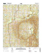 Woodbury Georgia Current topographic map, 1:24000 scale, 7.5 X 7.5 Minute, Year 2014 from Georgia Map Store