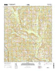 Yonkers Georgia Current topographic map, 1:24000 scale, 7.5 X 7.5 Minute, Year 2014 from Georgia Maps Store