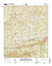 Zebulon Georgia Current topographic map, 1:24000 scale, 7.5 X 7.5 Minute, Year 2014 from Georgia Maps Store