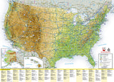 U.S. Scenic Drives GuideMap by National Geographic Maps - Back of map