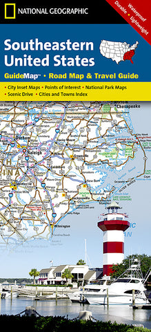 Buy map USA, Southeastern GuideMap by National Geographic Maps
