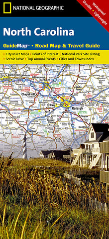 Buy map North Carolina GuideMap by National Geographic Maps