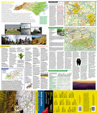 North Carolina GuideMap by National Geographic Maps - Front of map