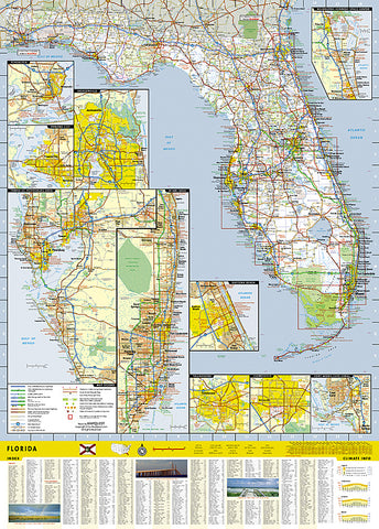 Florida Dca Map.Buy Map Florida Guidemap By National Geographic Maps Yellowmaps