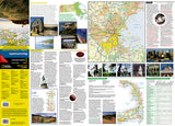 Massachusetts GuideMap by National Geographic Maps - Front of map