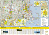 Massachusetts GuideMap by National Geographic Maps - Back of map