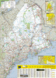 Maine GuideMap by National Geographic Maps - Back of map