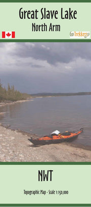 Purchase Clip of canoe map from Northwest Territories Maps Store