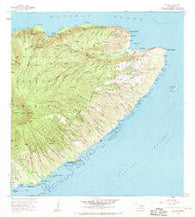 Halawa Hawaii Historical topographic map, 1:24000 scale, 7.5 X 7.5 Minute, Year 1968