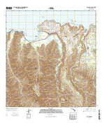 Hanalei Hawaii Current topographic map, 1:24000 scale, 7.5 X 7.5 Minute, Year 2013 from Hawaii Map Store