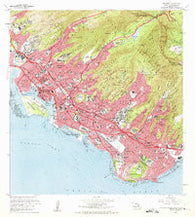 Honolulu Hawaii Historical topographic map, 1:24000 scale, 7.5 X 7.5 Minute, Year 1969
