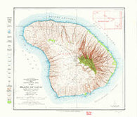Island of Lanai Hawaii Historical topographic map, 1:62500 scale, 15 X 15 Minute, Year 1923