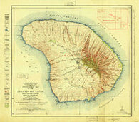 Island of Lanai Hawaii Historical topographic map, 1:62500 scale, 15 X 15 Minute, Year 1925