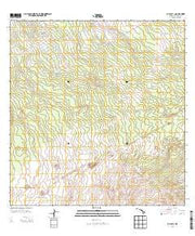 Kalalua Hawaii Current topographic map, 1:24000 scale, 7.5 X 7.5 Minute, Year 2013 from Hawaii Maps Store