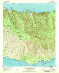 Kamalo Hawaii Historical topographic map, 1:24000 scale, 7.5 X 7.5 Minute, Year 1968