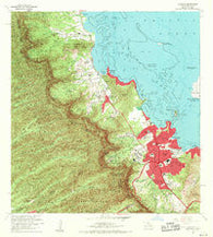 Kaneohe Hawaii Historical topographic map, 1:24000 scale, 7.5 X 7.5 Minute, Year 1968