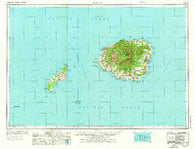 Kauai Hawaii Historical topographic map, 1:250000 scale, 1 X 2 Degree, Year 1970