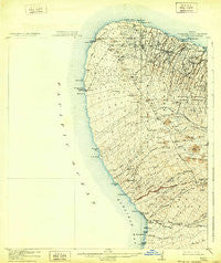 Kohala Hawaii Historical topographic map, 1:62500 scale, 15 X 15 Minute, Year 1916