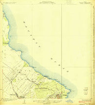 Makuu Hawaii Historical topographic map, 1:62500 scale, 15 X 15 Minute, Year 1924
