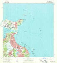 Mokapu Hawaii Historical topographic map, 1:24000 scale, 7.5 X 7.5 Minute, Year 1968