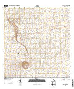 Puuanahulu Hawaii Historical topographic map, 1:24000 scale, 7.5 X 7.5 Minute, Year 2013
