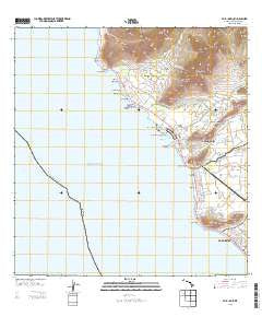 Waianae Hawaii Current topographic map, 1:24000 scale, 7.5 X 7.5 Minute, Year 2013