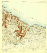 Waipio Hawaii Historical topographic map, 1:62500 scale, 15 X 15 Minute, Year 1916
