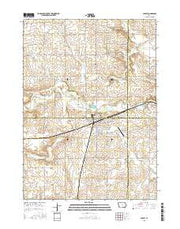 Ackley Iowa Current topographic map, 1:24000 scale, 7.5 X 7.5 Minute, Year 2015 from Iowa Maps Store