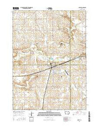 Ackley Iowa Current topographic map, 1:24000 scale, 7.5 X 7.5 Minute, Year 2015