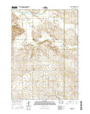 Ackley NE Iowa Current topographic map, 1:24000 scale, 7.5 X 7.5 Minute, Year 2015 from Iowa Maps Store
